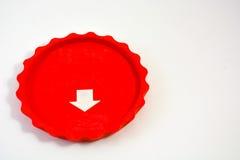Rött tefatsilikonexponeringsglas Royaltyfri Fotografi