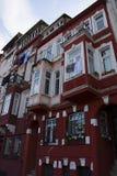 Rött tegelstenhus Royaltyfri Foto