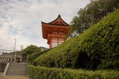 rött tempel Arkivbild