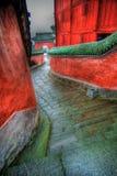 rött tempel royaltyfri foto