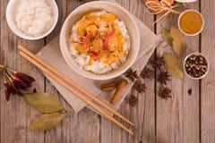rött thai för curry Royaltyfri Bild