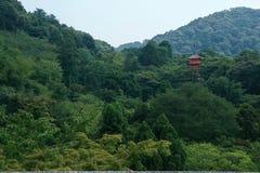 Rött torn i kullen Royaltyfria Foton