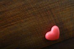 rött trä för bakgrundshjärta Arkivfoto