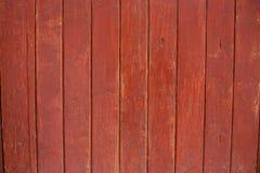 rött trä för staket Royaltyfri Bild