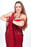 rött traditionellt för dansareklänning Royaltyfria Foton