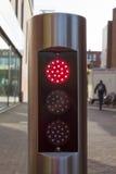 Rött trafikljus Arkivfoto