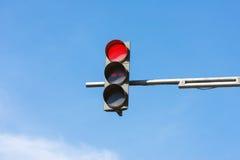 Rött trafikljus Fotografering för Bildbyråer