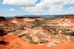 rött tsingy Royaltyfria Bilder