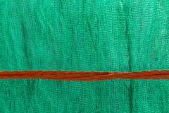 Rött tvinna på grönt ingrepp Royaltyfria Foton