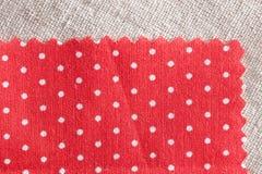 Rött tyg Fotografering för Bildbyråer