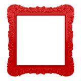 Rött utsmyckat inramar stock illustrationer
