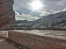 Rött vagga i Colorado Royaltyfria Bilder