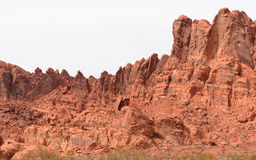 Rött vagga i dammsugarefördämningen, röd sten i Hooverdam arkivfoton