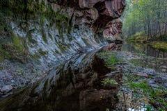 Rött vagga kanjonen Fotografering för Bildbyråer
