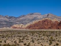 Rött vagga kanjonen nära Las Vegas Nevada Arkivfoto