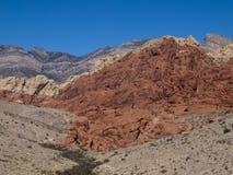 Rött vagga kanjonen nära Las Vegas Nevada Arkivbilder
