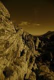 Rött vagga kanjonen Nevada Arkivbild