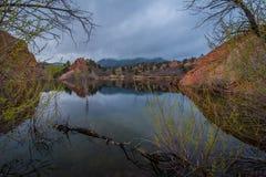 Rött vagga sjön Royaltyfri Fotografi