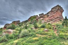 Rött vaggar teatern Colorado arkivbilder