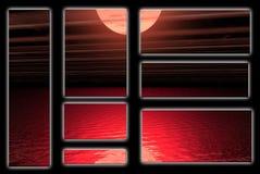 rött vatten stock illustrationer