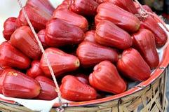 Rött vaxa äpplet Arkivbild