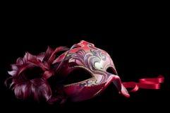 rött venetian för maskering Royaltyfria Bilder