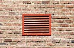 Rött ventilationsgaller Arkivfoto