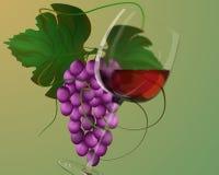 rött vin Vektor Illustrationer
