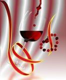 rött vin Stock Illustrationer