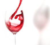 rött vin Fotografering för Bildbyråer