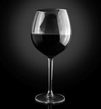 rött vin för alkoholstångexponeringsglas Arkivfoto