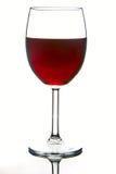 rött vin för alkoholstångexponeringsglas Arkivbild