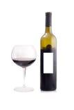 rött vin för flaskexponeringsglas Fotografering för Bildbyråer