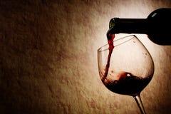 rött vin för flaskexponeringsglas Royaltyfria Bilder