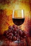 Rött vin i ett exponeringsglas Royaltyfria Foton