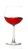 Rött vin i exponeringsglas Royaltyfri Fotografi
