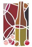 Rött vin och druvor Royaltyfri Foto