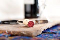 Rött vinavsmakning Arkivbild