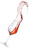 Rött vinspill royaltyfria foton