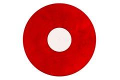 Rött vinylrekord på en vit bakgrund Fotografering för Bildbyråer