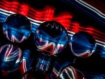 Rött, vitt och blått är temat i det ljusa måla abstrakta begreppet royaltyfri foto