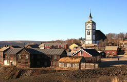 Røros, Norway. The small Norwegian town Røros, which is on Unesco's World Heritage list Royalty Free Stock Images