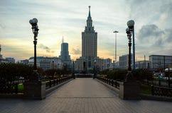 Rússia A área de três estações em Moscou 18 de novembro de 2017 Fotografia de Stock Royalty Free