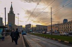 Rússia A área de três estações em Moscou 18 de novembro de 2017 Foto de Stock Royalty Free