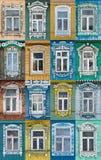 Rússia As janelas da cidade Suzdal Fotos de Stock