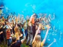 RÚSSIA, Bryansk - 1º de julho de 2018: Festival santamente das cores foto de stock
