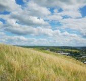 Rússia, campo, nuvens Foto de Stock Royalty Free