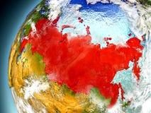 Rússia da órbita de Earth modelo Fotografia de Stock Royalty Free