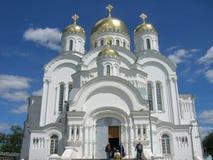 Rússia, Deveevo, templo ortodoxo Imagem de Stock Royalty Free