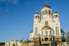 Rússia Ekaterinburg Igreja no sangue derramado Imagem de Stock Royalty Free
